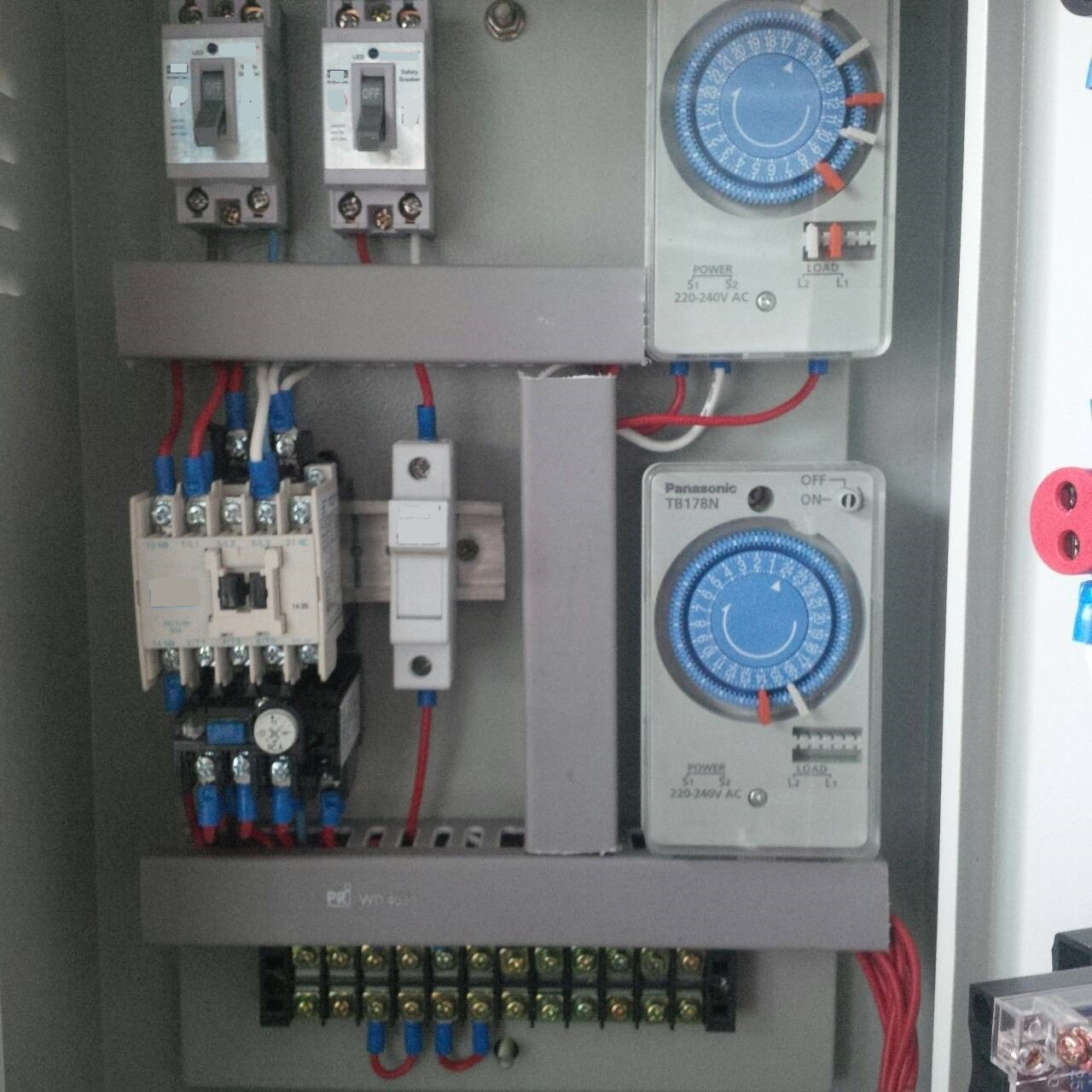 Electric Control Box With Timers And Transformers
